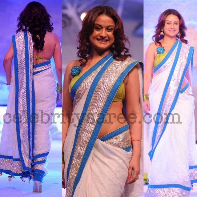 Sonia Agarwal Backless Saree Blouse