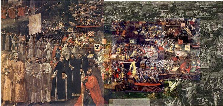 Battle of Lepanto-The Battle of Lepanto by Tommaso Dolabella (c.1625-1630, Wawel Castle,Cracow)