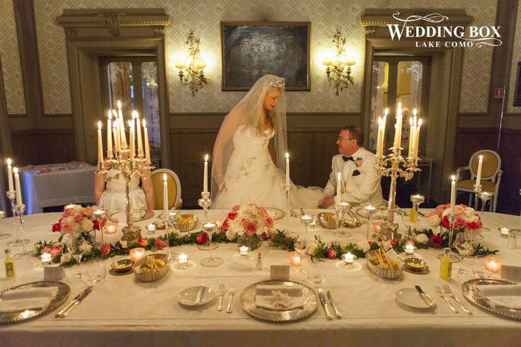 A romantic, intimate wedding reception at Grand Hotel Tremezzo!