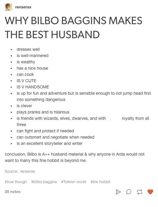 When I read 'THE BEST HUSBAND' I thought, yeah, for Thorin