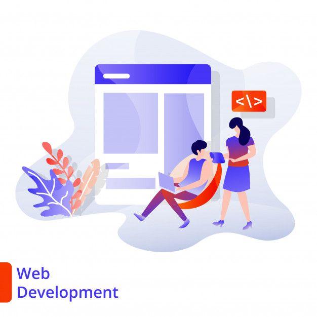 Landing Page Web Development Illustration Modern Digital Marketing