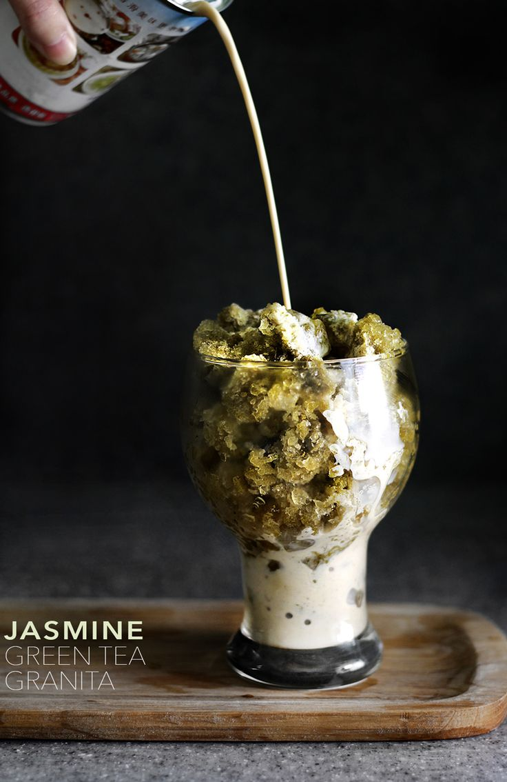 jasmin green tea granita.