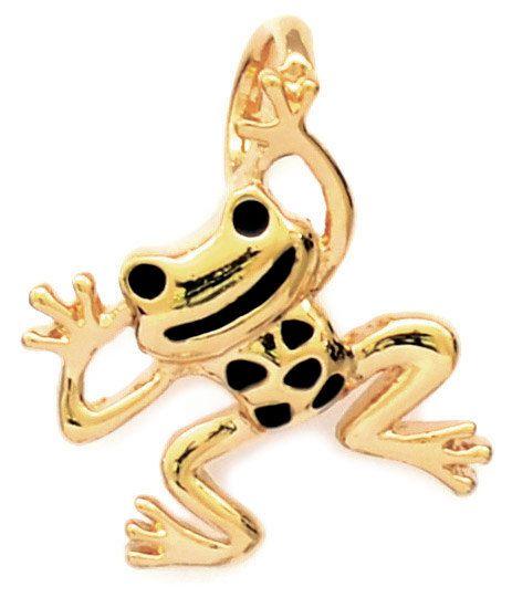 Frog Pendant Gold Plated or White Rhodium by JenniferLoveKids