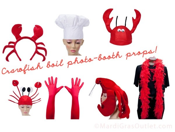 crawfish boil party decorations ideas diy photobooth photo booth paper fans accordions rosettes tutorial instructions