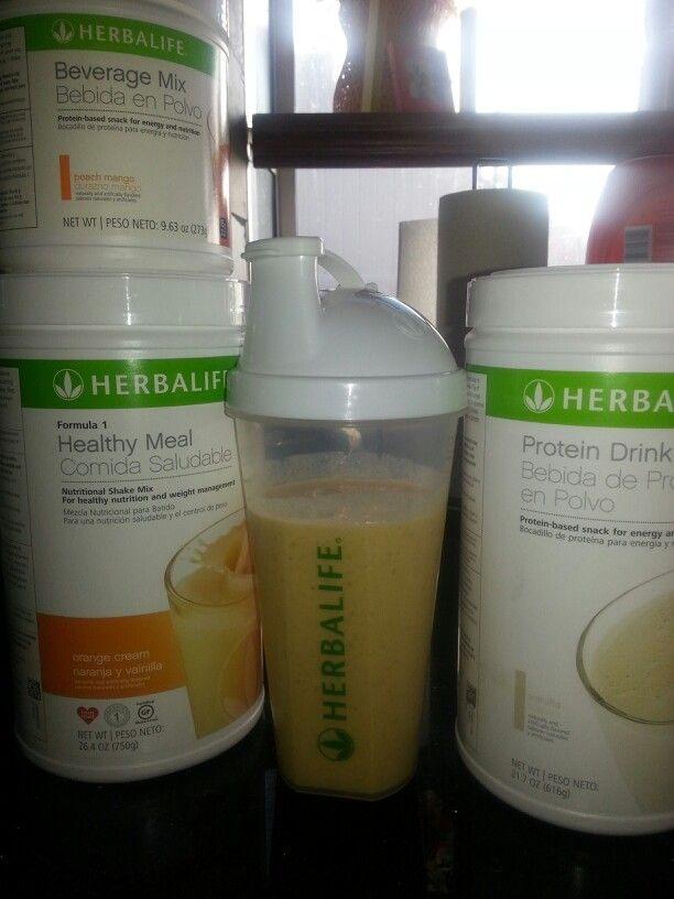 how to make herbalife shake with water
