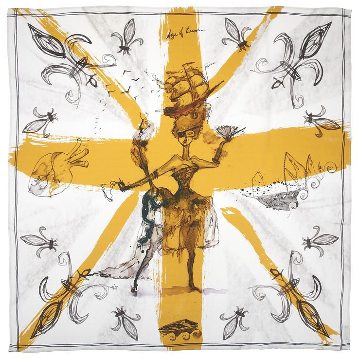 Age of Reason Victory Pirate Queen Gold Oversized Silk Scarf