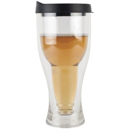 Porta-Brew Double Wall Portable Beer Tumbler with Lid Black   Water Bottles, Carry Cups & Travel Flasks - House