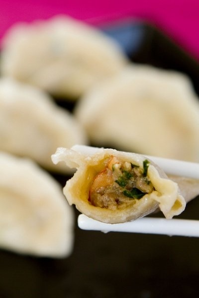 Pork, Shrimp, and Chive Dumplings | Yummy! | Pinterest