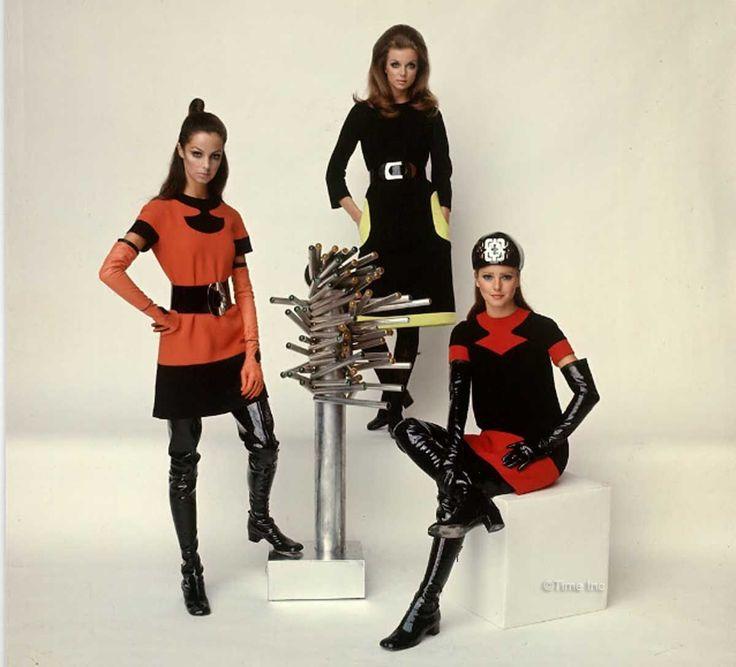 1960s-Fashion---Paris-Fall-Season-of-1968---Cardin | fashion | Pinterest | Años y Inspiración