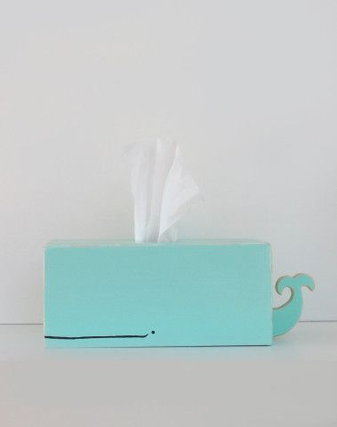 Whale Tissue Holder - Surf Blue -  Ships in 2-3 days