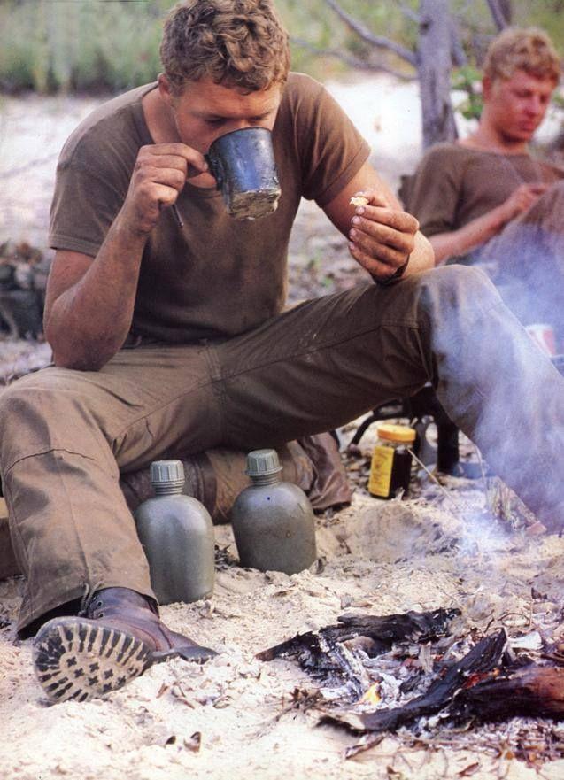 South African troops taking a break.