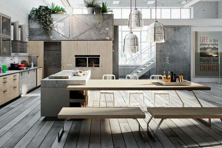Arricchita di tavolo integrato, di zona operativa completa di lavello e fornelli oppure con piani di lavoro ampliabili. Ecco le nuove forme delle cucine con isola aperte sul living.Nuovi codici espressivi
