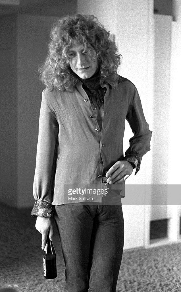 Robert Plant in room at Continental Hyatt House in Los Angeles, CA 1974; Various Locations; Mark Sullivan 70's Rock Archive; Los Angeles; CA.