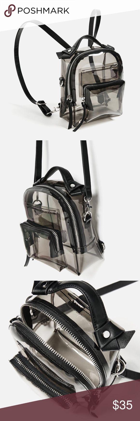 Zara backpack Transparent backpack , multiuse back pack and purse Zara Bags Backpacks