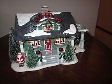отдел Dept 56 ~ снег деревня Санта Клауса дом Рождество, Лэйн, так как есть
