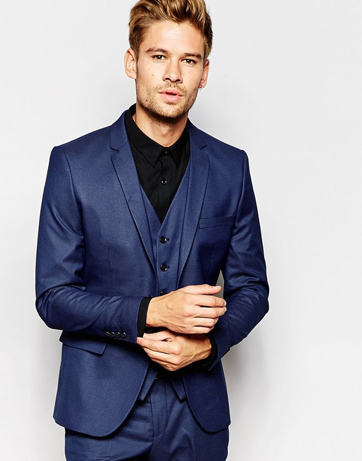 Selected+Homme+Pindot+Suit+Jacket+in+Skinny+Fit
