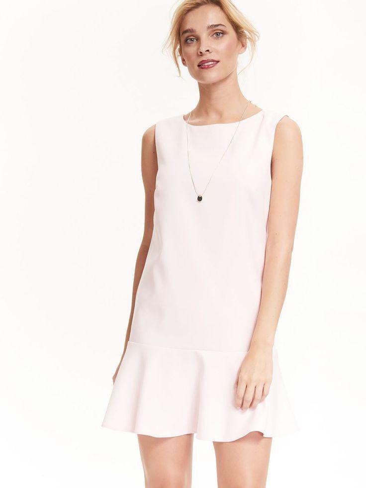 Top Secret sukienka na wesele wedding dress pale pink jasny róż pastelowa z falbaną