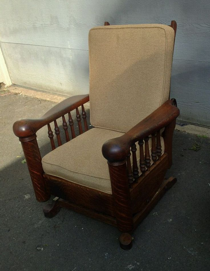 Antique ARTS u0026 CRAFTS Quarter Sawn OAK Recliner MORRIS Chair. & 119 best Antique Morris Chairs images on Pinterest | Antique ... islam-shia.org