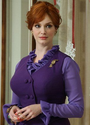 Beautiful colors  Mad Men darling: The actress, left, will soon say goodbye to her saucy secretary Joan after the seventh and final season of AMC's Mad Men and right, Fresh's $88 Cannabis Rose, which she says helps get her into character  http://www.royaldressedladies.com