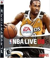 NO GAME DISC--NBA LIVE O8--PS3--JUST THE ORIGINAL CASE,ART AND MANUAL