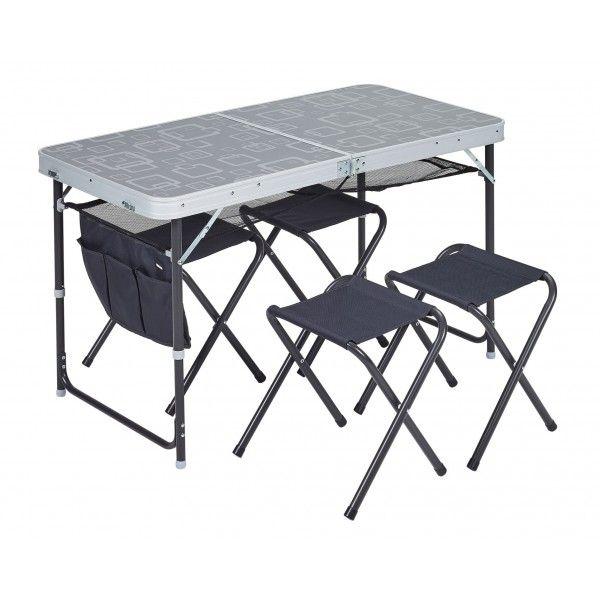 Trigano Table Avec Bancs Pour Le Camping Car Caravane Table Valise Table Camping Tabouret