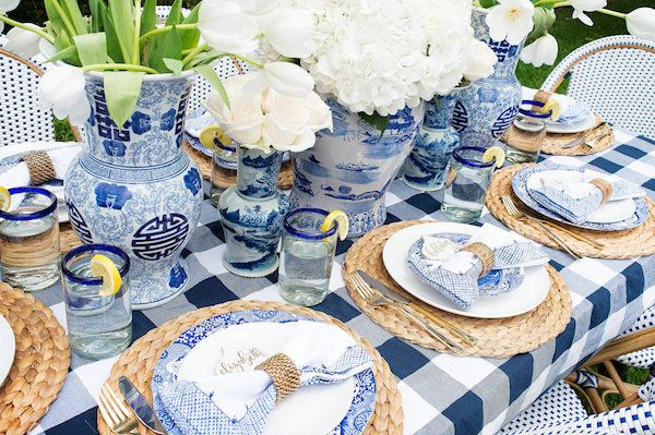 the perfect setting for a summer dinner al fresco!