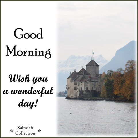 Salmiah Collection: Good Morning Wish 27: Wish you a wonderful day!