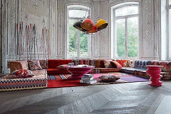 I have craved this sofa for years missoni mah jong modular seating by rocheb - Mah jong roche bobois ...