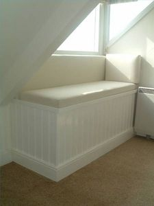 How to build a window seat with storage... Perfect idea for Window Seat with Storage for dormers /cape cods