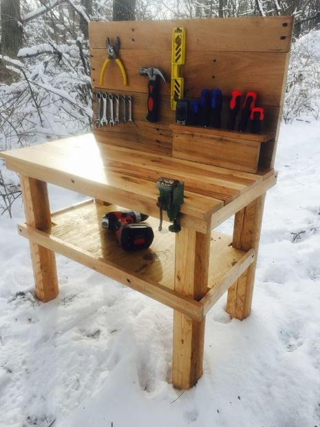 Picture of Kids Pallet Workbench //  http://m.instructables.com/id/Kids-Pallet-Workbench/