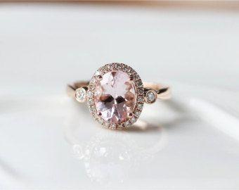 Dos anillos VS 2.5ctw Natural puro rosa anillo 14 K oro por ByLaris
