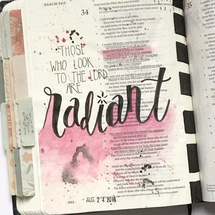 """143 Likes, 11 Comments - Kate Inspired (@katesullivan) on Instagram: """"There's so much to love in Psalm 34, but one thing I especially love about bible journaling is…"""""""