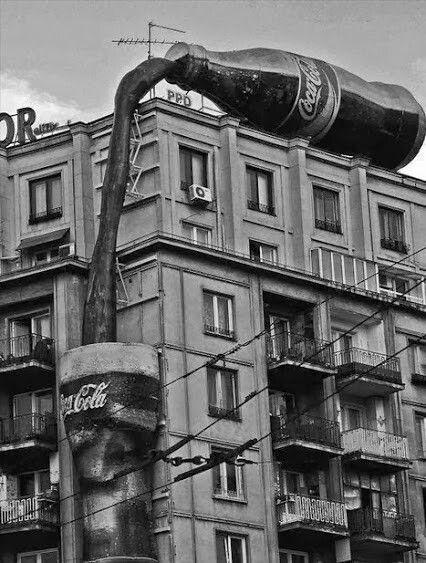 Coca-Cola anyone. Bucharest, Romania.