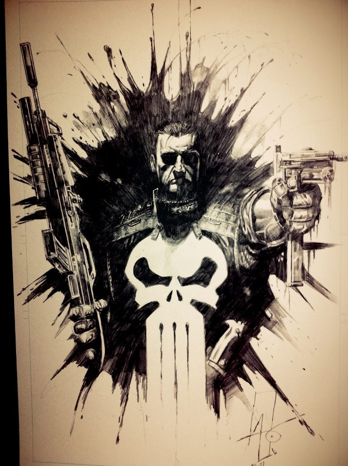 Punisher - Rudy AO Comic Art