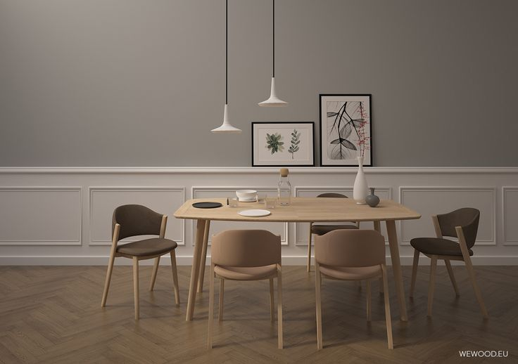 #Azores dinig table and #caravela chairs for an elegant and nordig dining interior by wewood.