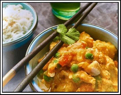 Quick Thai Chicken Curry - our newly appointed National Sales Manager for Thermomix South Africa tried this recipe in her TM5 and came into the office raving about how quick, easy and tasty this recipe is. We thought we would encourage you to try this and for the TM31 owners, to have a copy of the recipe.