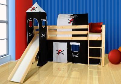 Łóżko łóżka piętrowe MARCO natura ze zjeżdżalnią