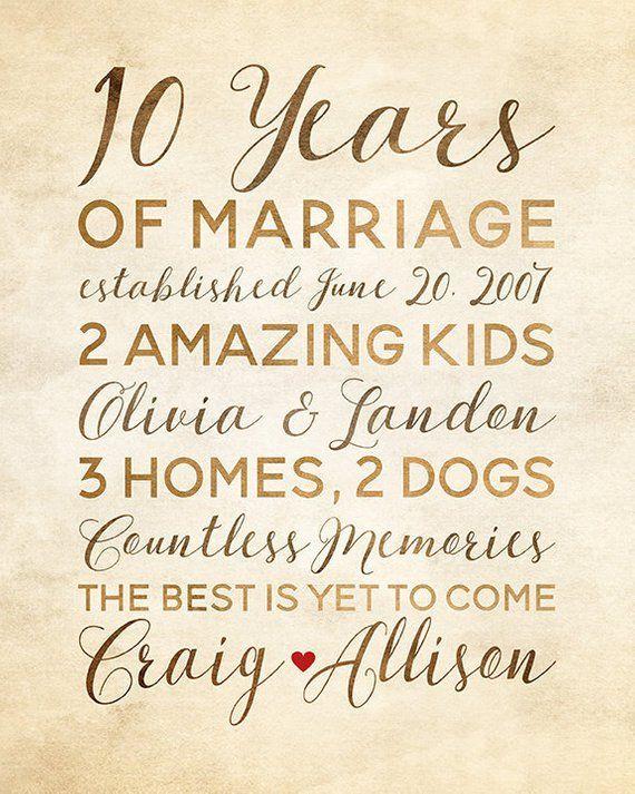 10 Year Anniversary Gift Wedding Anniversary Decor Rustic Etsy In 2020 10 Year Anniversary Gift 10 Year Wedding Anniversary Gift 10 Year Anniversary