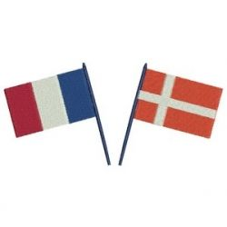 {Downloded Under- 000 drapeau danois et frcs.rar K.H.}  French and Danish flags
