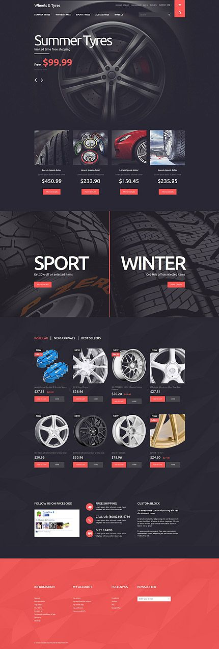 Wheels & Tyres Online Store #PrestaShop #template. #themes #business #responsive #webshop