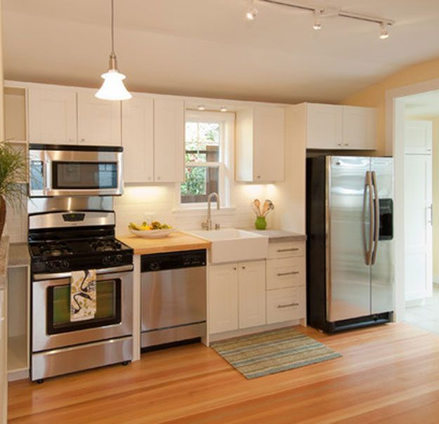 Small kitchen designs photo gallery section and - Kitchen layout designs for small spaces ...