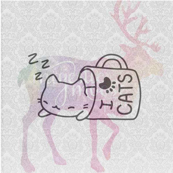 Download Cat Nap - I Love Cats SVG / CLIPART | Cat nap, I love cats ...