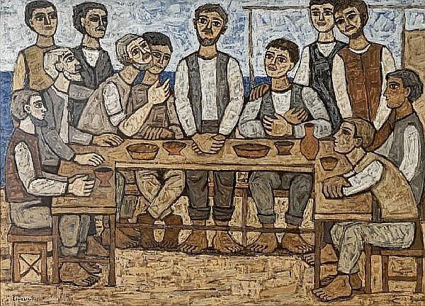 Georgios Sikeliotis (Greek, 1917-1984) The last supper