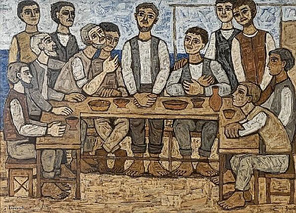 Georgios Sikeliotis (Greek, 1917-1984) The last supper