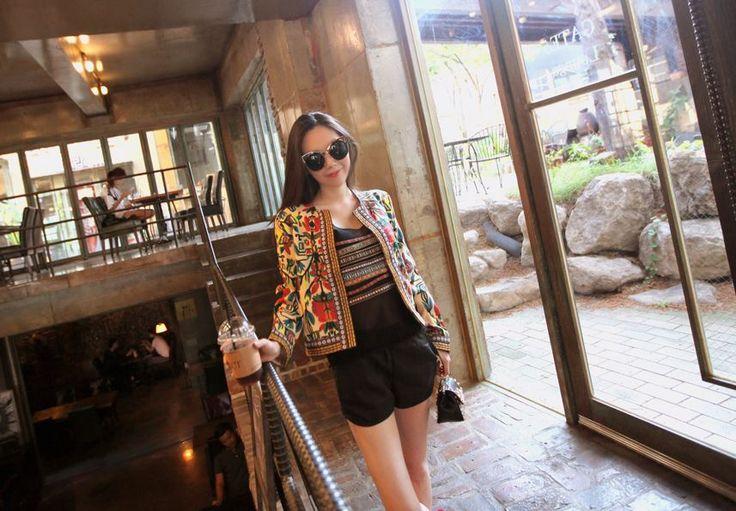 Korea feminine clothing Store [SOIR] Ecole Lodge Flower Jacket / Size : Free / Price : 32.12USD #korea #fashion #style #fashionshop #soir #feminine #special #lovely #luxury #jacket