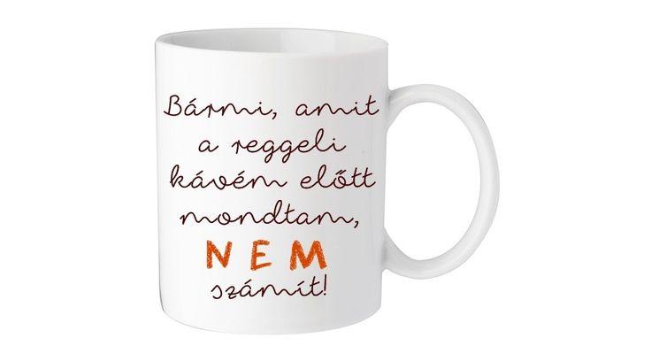 Bögre (Reggeli kávé) - Egyedi kerámia bögrék