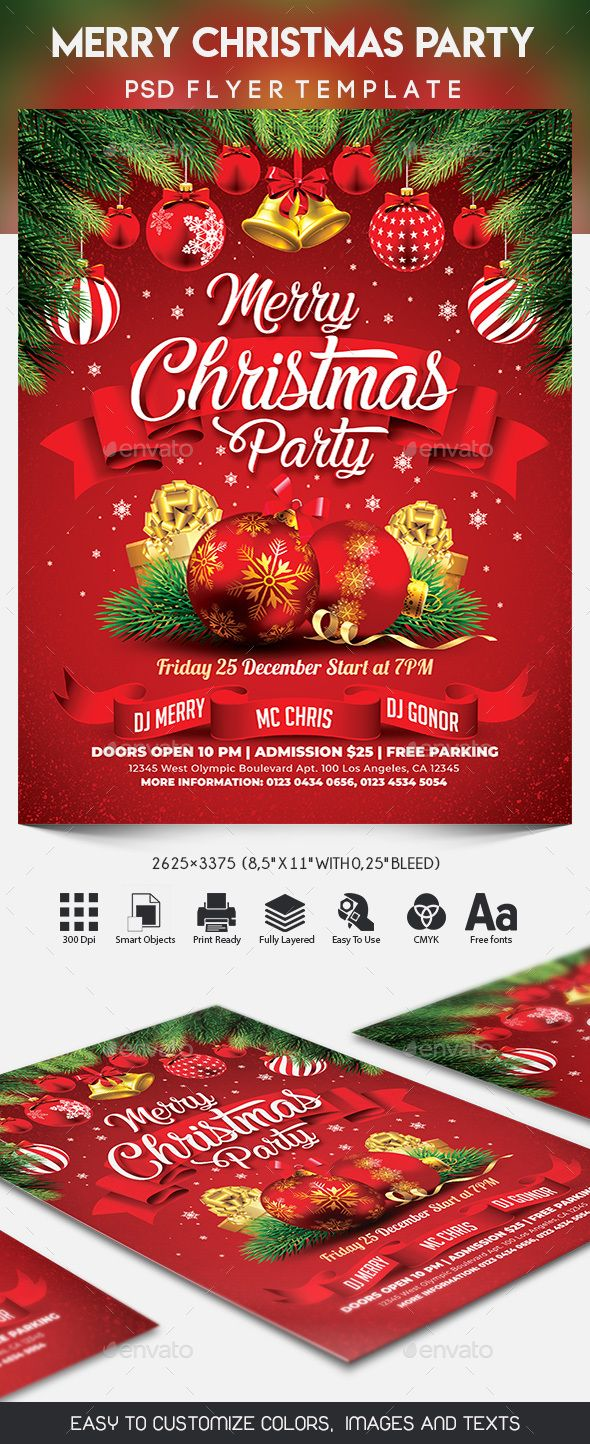 Merry Christmas Party Christmas Party Invitation Template Christmas Party Christmas Party Invitations Free