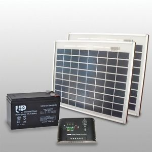 Kit cancello automatico solare fotovoltaico 20W+ batterie+ regolatore