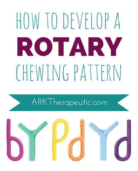 How to Develop a Rotary Chewing Pattern by ARK Therapeutic. Pinned by SOS Inc. Resources. Follow all our boards at pinterest.com/sostherapy/ for therapy resources.