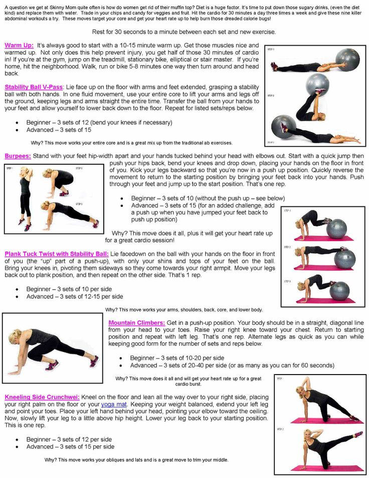 Love handles workout page 1 | Weight Loss & Health | Pinterest